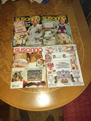 6 revistas Punto de cruz, (LAS IDEAS DE SUSANA)
