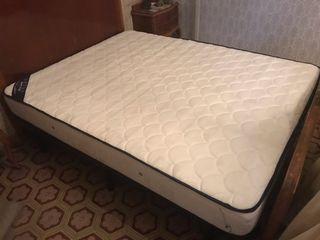 Colchón + somier cama doble 150cm