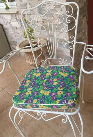 Cojines para sillas hierro de jardin o exterior