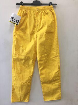 Pantalón de trabajo amarillo Workteam