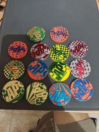 14 tazos caps raros master