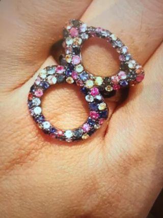 anillo tous infinito de zafiros