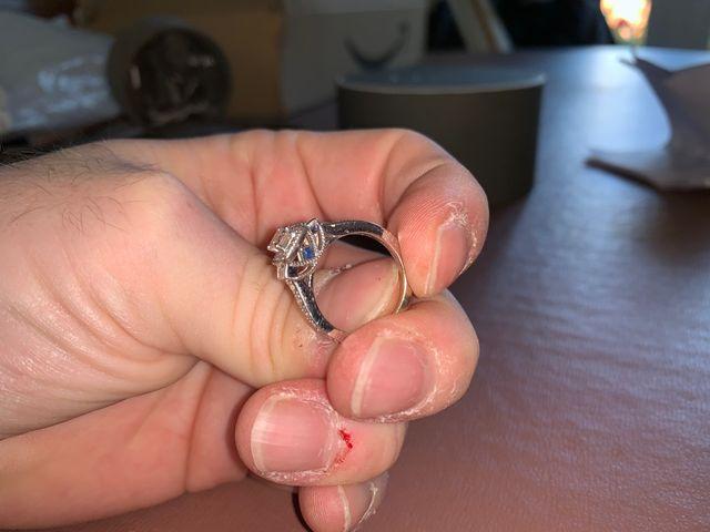 Vera Wang White Gold Diamond Ring