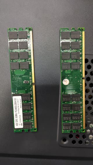 Módulos memoria RAM