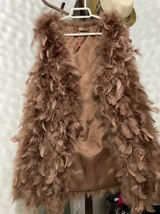 Chaleco plumas naturales sin estrenar