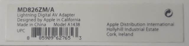 Conector Lightning HDMI original Apple