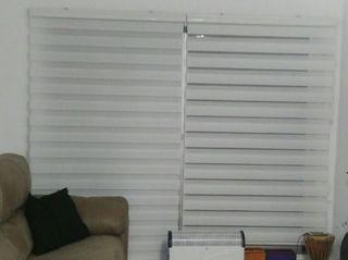 Estor día y noche blanco 120cm de ancho