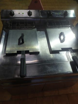 freidora industrial dos cubetas
