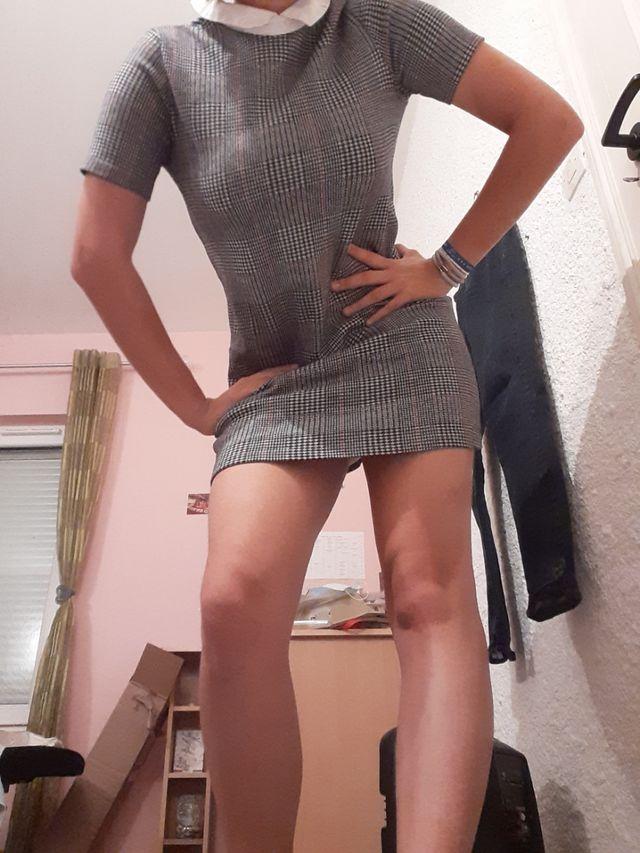 robe vintage à carreaux