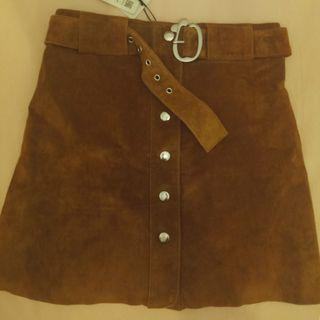 Falda piel marrón sin estrenar