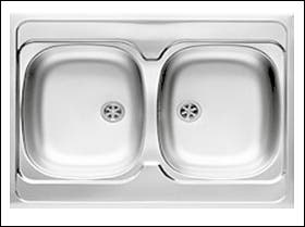 Fregadero de cocina doble seno ref-04