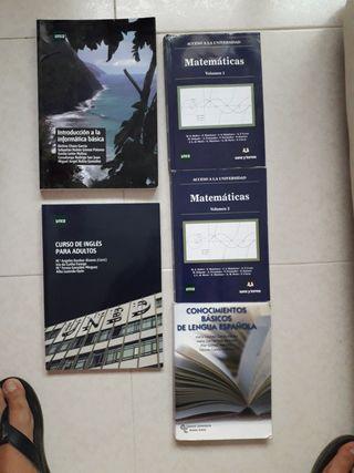 libros acceso universidad mayores de 25 UNED