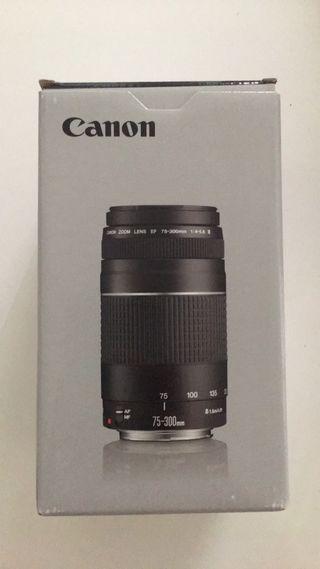 Objetivo CANON 75-300 mm NUEVO 2020