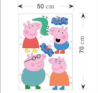 VINILO PEPPA PIG NUEVO PARED ARMARIOS....