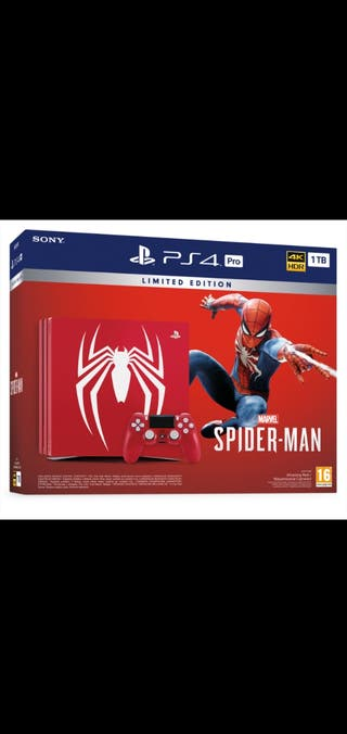 ps4 pro. Edicion Spiderman