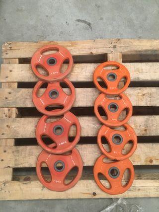 Discos para pesas olive 28 mm