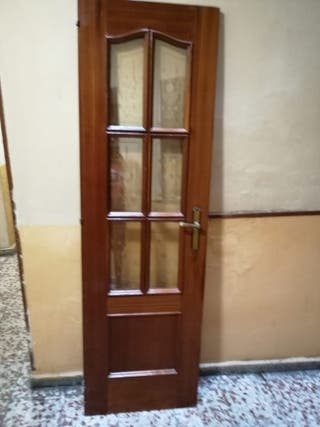 puerta cristalera de sapelly maciza