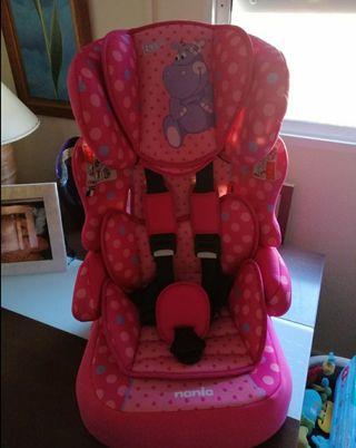 silla coche bebé rosa grupo 1, 2 y 3