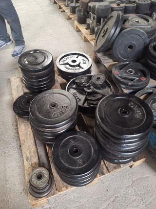Discos para pesas de caucho de 28 mm