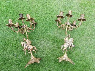 2 candelabros de bronce