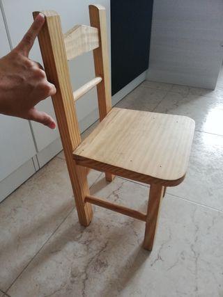 silla pequeña niño