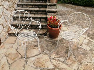 2 preciosa sillas jardin metalicas