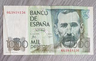 Billete 1000 pesetas