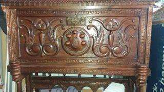 escritorio bargueño de madera tallado a mano (100)