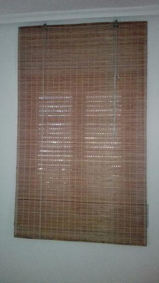 Estores de bambú