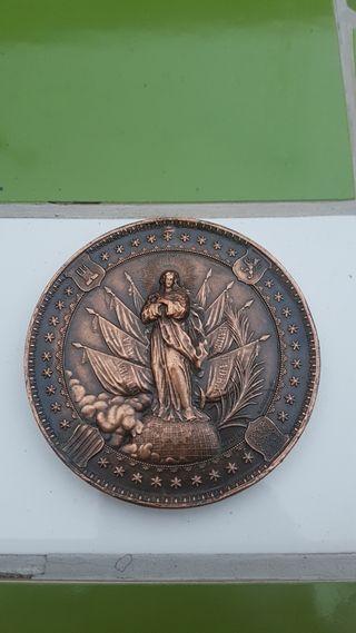 Medalla militar antigua Inmaculada