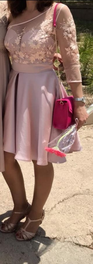 Vestido cóctel de Silvia Navarro.