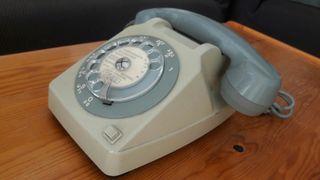 Teléfono vintage de dial años 80s francés Alcatel
