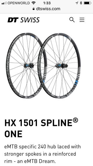 Ruedas DT Swiss HX 1501 de 29 Nuevas
