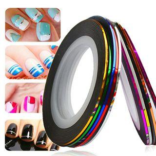 cinta adhesiva de purpurina para uñas dorado