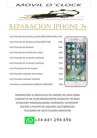 REPARACION IPHONE 7 PLUS