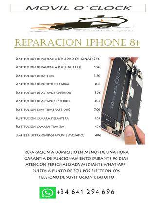 REPARACION IPHONE 8 PLUS