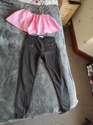 Set of pants and top
