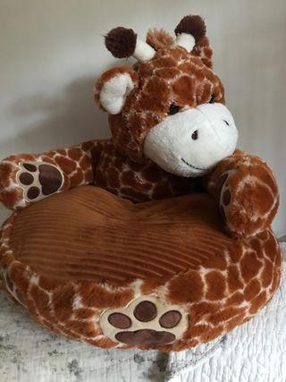 Peluche sillón nuevo para niños jirafa