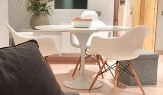 Conjunto blanco mesa redonda + sillas