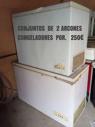 Conjunto de 2 Congeladores por 250€
