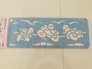 Plantilla motos stencil para pintar