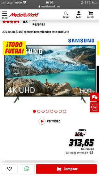 Tv Samsung smart tv 40 purgada