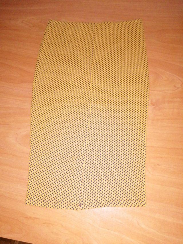 Falda de tubo elástica Zara Talla S