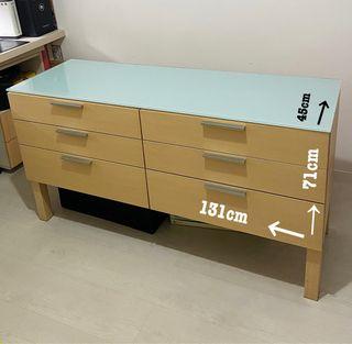 Mueble de 6 cajones habitación