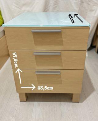Mueble de 3 cajones para habitación
