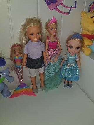 muñecas , nancy barbie sirena , frozen