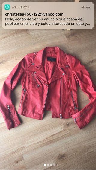 Biker piel Zara roja