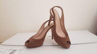 Zapatos Pura Lopez ante marrón. T37