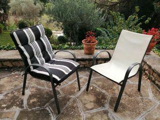 2 sillas exteriores