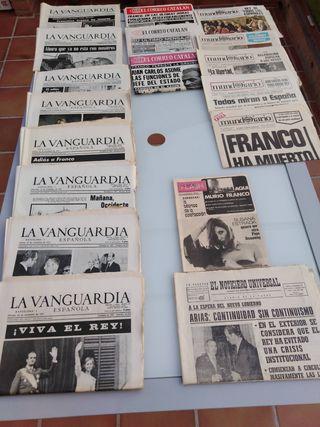 Periodicos muerte de Franco.